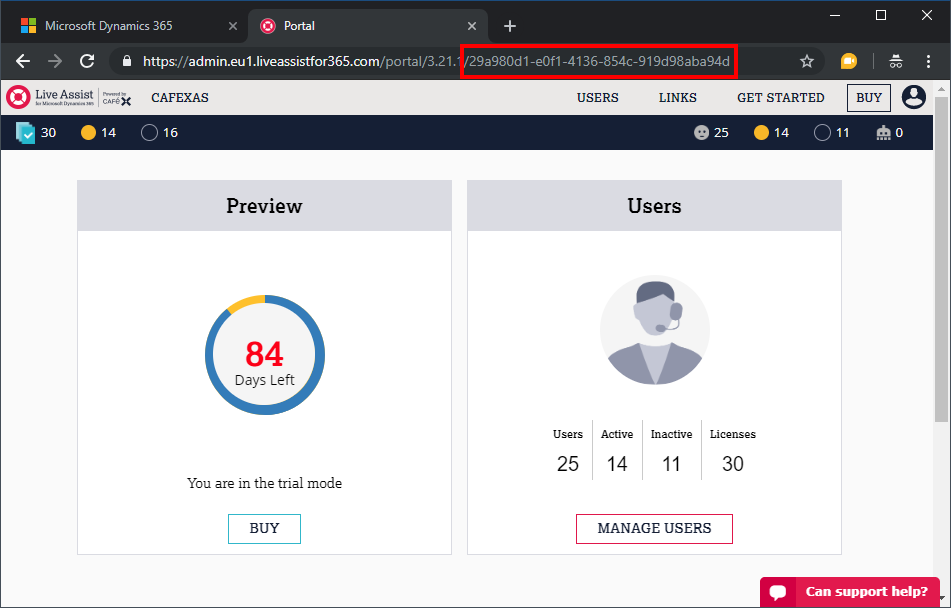 Enabling Live Assist when using Microsoft Dynamics Unified Interface